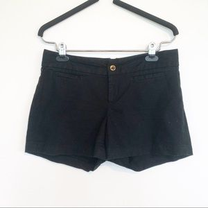 Banana Republic Black Cotton Shorts